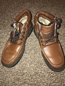 Mans Clarks Cushion Cell Extra Wide Size 7,5 In Brown -shoes