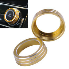 Gold AC Air Condition Control Switch Cover Ring Fit For Honda Civic 2016-2017