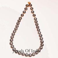 Natural Pave Diamond & Polki Diamond Gold & 925 Sterling Silver Necklace jewelry