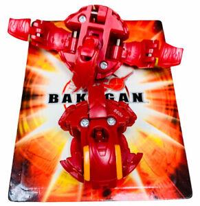 Bakugan Battle Brawlers Pyro Red Sky and Gaia Dragonoid 860G + Random Card Anime