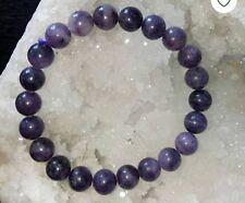 Natural Amethyst Crystal Beads Bracelet for Peaceful esprit Couronne Chakra healinguk