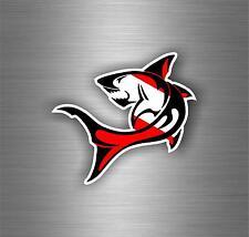 Sticker decal vinyl car bumper bike laptop shark r2 diving diver scuba dive flag