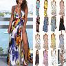 Women's Beach Maxi Dress Baggy Sleeveless Summer Holiday Long Sundress Plus Size
