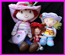 Strawberry Shortcake Plush Soft Pillow Doll Lot Lemon Meringue Cake Hat Jam CD