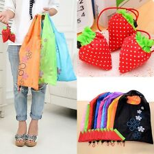 Hot Cute Strawberry Eco Shopping Bag Nylon Folding Reusable Compact Tote