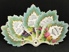 More details for rare victorian novelty paper fan calendar happy new year 1877