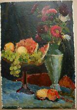 Russian Ukrainian Soviet Oil Painting Still-life impressionism fruit flowers