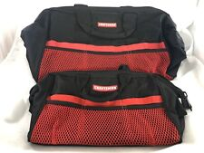 Craftsman Lot Of 2 Heavy Duty Canvas Tool Bags Black And Red