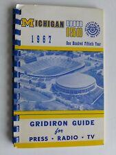 Michigan Wolverines 1967 Anniversary Edition College Football Gridiron Guide