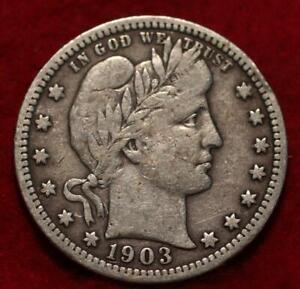 1903  Philadelphia Mint Silver Barber Quarter