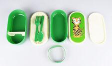 Lunchbox-set pan lata bento-box para niños, dulce tigre, con cubiertos + 2 copas