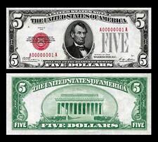 1928 UNC. $5.00 UNITED STATES BANKNOTE COPY NOTE PLEASE READ DESCRIPTION!