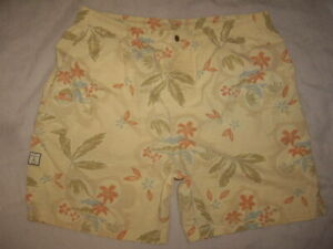 Tommy Bahama Swim Trunks Palm Trees Tropical Print Brief Lined Men's Size XL
