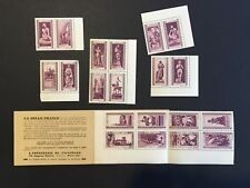 France early Cinderella propaganda stamps in pairs and booklet - Joan of Arc