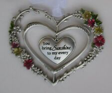 zzAa You bring sunshine to my every day Blooming Lovely 3d Heart Ornament ganz