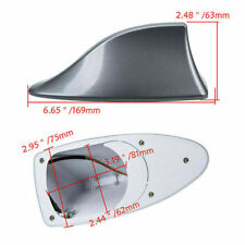 Gray Grey Shark Fin Roof Antenna Aerial AM/FM Strong Signal Receive Fit for BMW