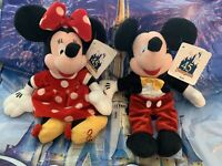Collectors 45 Years Magic Minnie & Mickey Plush Disney Parks Stuffed Animals NEW