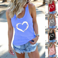 Plus Size Womens Sleeveless Tank Vest Tops Ladies Summer Casual Blouse T-Shirt