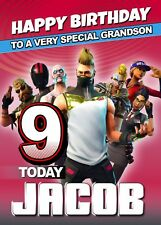 FORTNITE Personalised Birthday Card Fortnight Game Online Battle XBox Gamer MMO