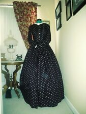 Civil War Reenactment Day Dress Size 10 Black with Red Floral