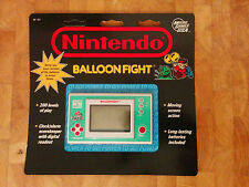 *BALLOON FIGHT* Nintendo game and watch  CARDED Blister sealed new old stock NOS