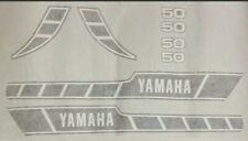 YAMAHA  RD50 RD50M RD50-M  SPEEDBLOCK [BLACK/WHITE] DECAL KIT