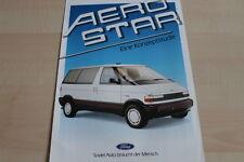 115147) Ford HFX Ghia Aerostar Prospekt 09/1987