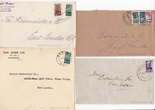 # 1943/6 4 x SOUTH WEST AFRICA OVERPRINTED ON SOUTH AFRICA BANTAM STAMPED COVERS