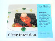 LOVE MYSELF Grid Card 4x5 inch Glossy Cardstock Flower of Life Understand Accept