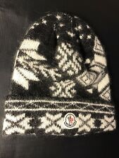 MONCLER WOOL BEANIE HAT CAP SIZE XLONG RARE 100 PERCENT AUTHENTIC MADE IN ITALY