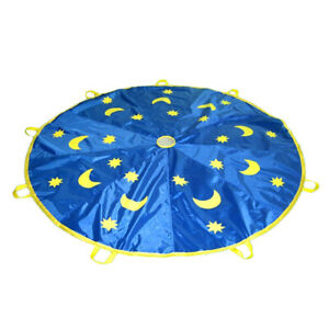 6ft/1.8m Kids Play Moons & Stars Parachute Outdoor Game Exercise Sports Toy