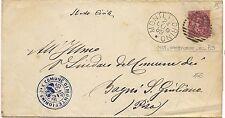 P5943   Modena, MONTEFIORINO, annullo numerale a sbarre 1889