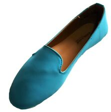 Dollhouse Poser Almond Toe Lug Sole Slip-On Flats Loafers TURQUOISE 6.5