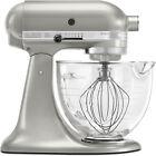 KitchenAid Artisan Series 5-Quart Stand Mixer with Glass Bowl - Pearl Silver