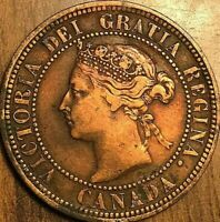 1882H CANADA LARGE CENT PENNY COIN