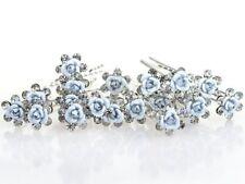 1 épingle à chignons fleur et strass , bijou de cheveux mariage