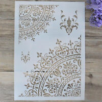 Flower layering stencils for walls paint scrapbooking stamp album decorative ^P