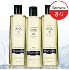 3 X Neutrogena Sheer Moisturizing Light Sesame Formula Body Oil 250ml / 8.5oz