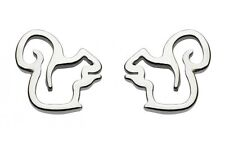 Dew 925 Sterling Silver Open Design Squirrel Stud Earrings with Gift Box