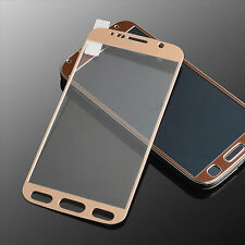 Samsung S6 Tempered Glass Screen Protector Cover Full Edge to Edge Titanium Gold