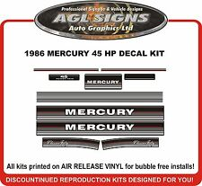 1986 1987 1988  MERCURY 45 hp  Classic Fifty  Outboard Decals  reproductions