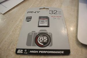 BRAND NEW PNY Technologies 32GB High Performance UHS-I SDHC Memory Card
