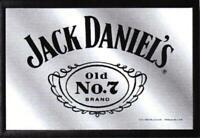 Jack Daniels Whiskey No. 7 Nostalgie Barspiegel Spiegel Bar Mirror 22 x 32 cm
