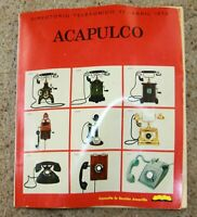 Vintage 1972 Acapulco Mexico telephone phone directory book Spanish Coca-Cola ad