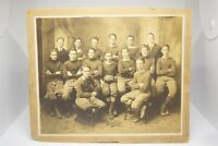 Antique 1916 Large Football Team Gelatin Silver Photograph 10 x 8 Carded