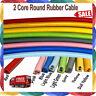 Rubber Cable 2 core 0.75mm PVC Wire Colour Flexible Heavy Duty Outdoor UK Stocks