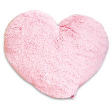 Kuschlig weiches Massage KISSEN rosa PLÜSCH HEART Herz Herzkissen Schmusekissen
