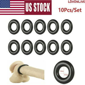 LOVONLIVE 10PCS Cock Ring Super Strong Stay Harder Penis Rings Cockring for Men