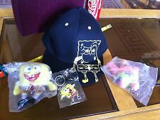 SpongeBob Squarepants Nickelodeon Cap Key Ring Soft Toy Bundle Official