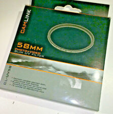Camlink 58mm UV (0) protective filter (CL-UV58) boxed with case, NEW